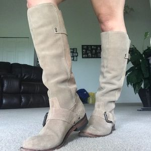 Shoes - Suede nude tan boots